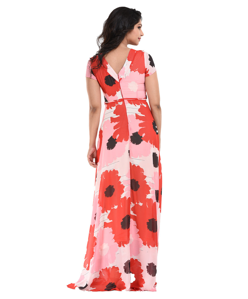 Lina Floral Printed Maxi Dress