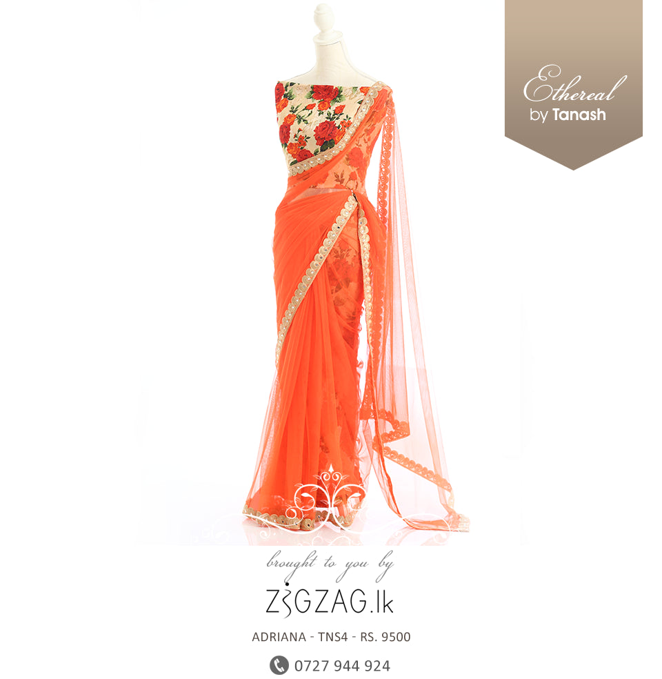 Orange - Adriana Designer Saree