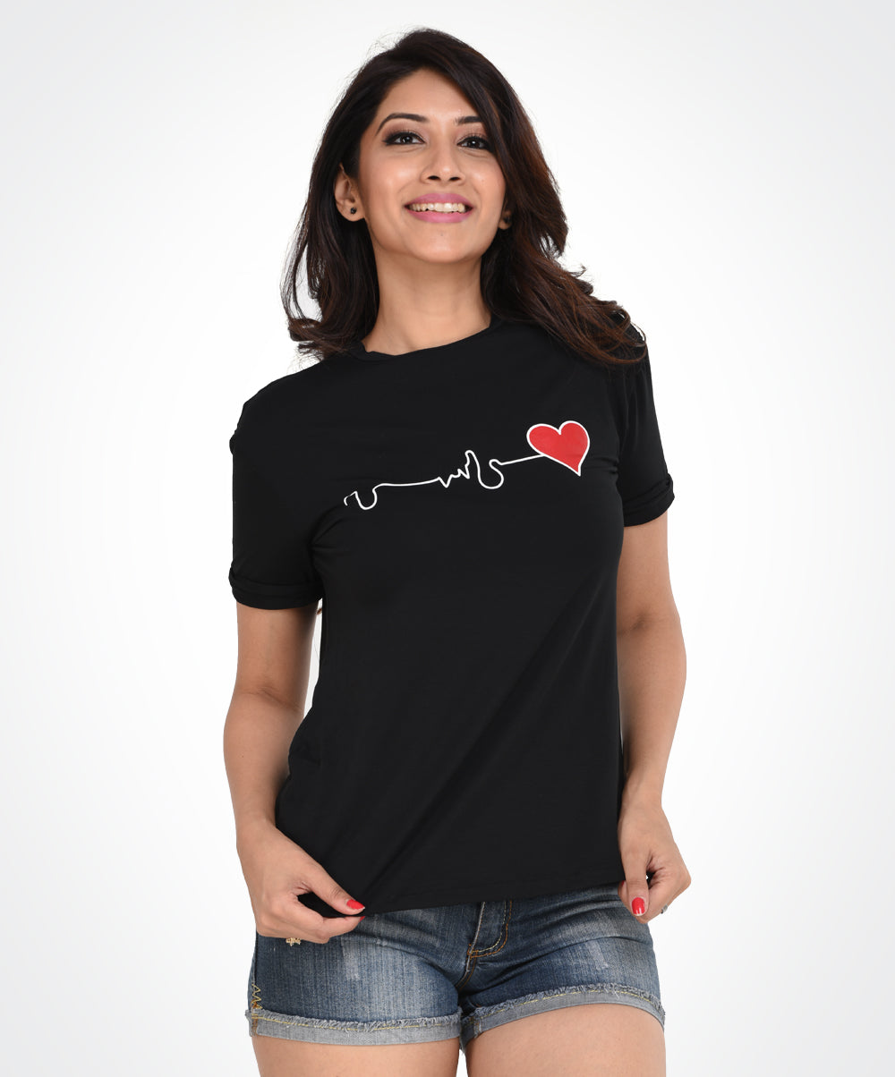 Black Heart Beat T-Shirt