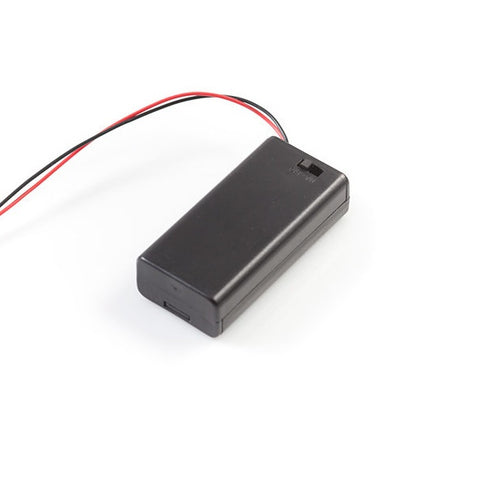 2 x 1.5V AA battery holder with cover and On/Off Switch