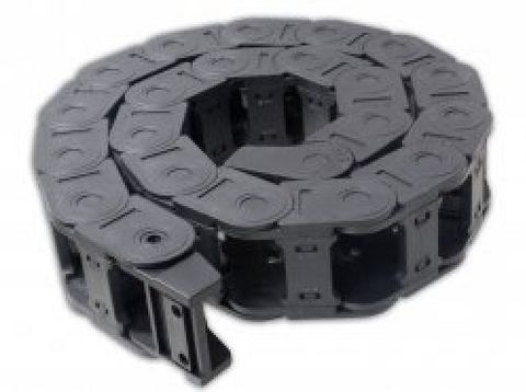 Cable Drag Chain Wire Carrier With End Connectors 25x38mm 1Meter
