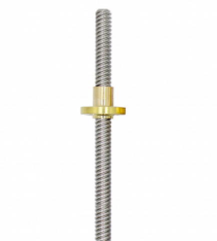 T-Type Stepper Motor Trapezoidal Lead Screw Dia 8mm Thread t8 500mm Length