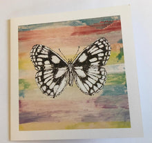 Load image into Gallery viewer, Marbled White - Hand Designed Card