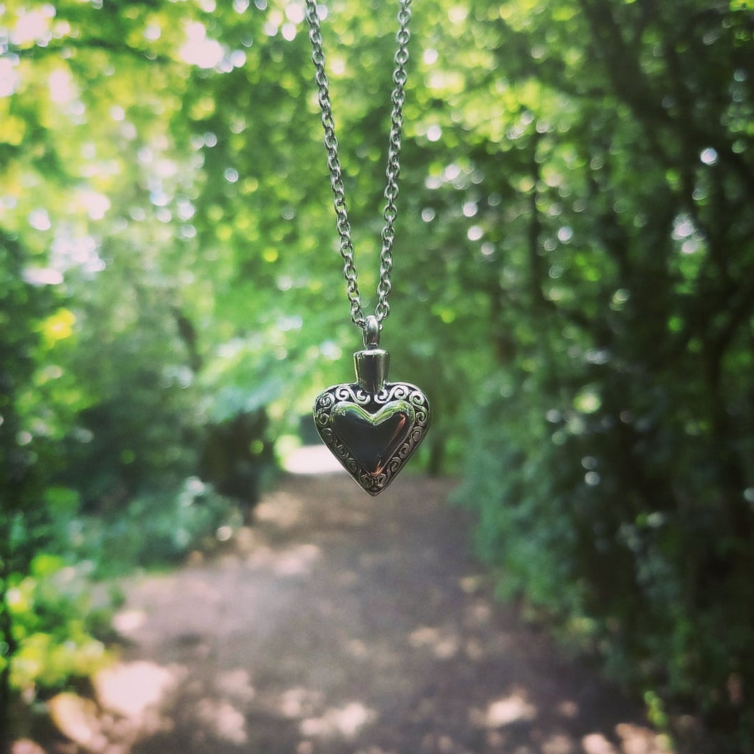Heart Shaped Ashes Pendant