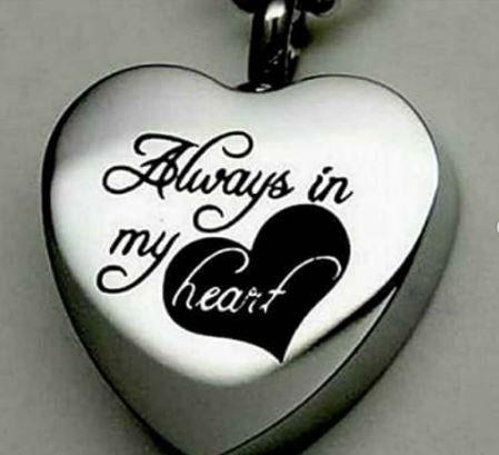 Always in my heart Ashes Pendant