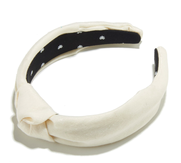 IVORY FAUX CROCK SLIM HEADBAND