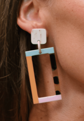 NEUTRAL COLOR BLOCK EARRINGS