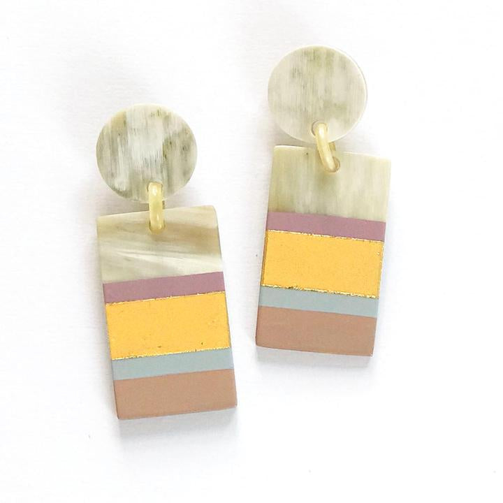 ROSE LAYERED CABANA EARRINGS