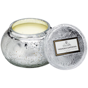 JAPONICA EMBOSSED GLASS CANDLE