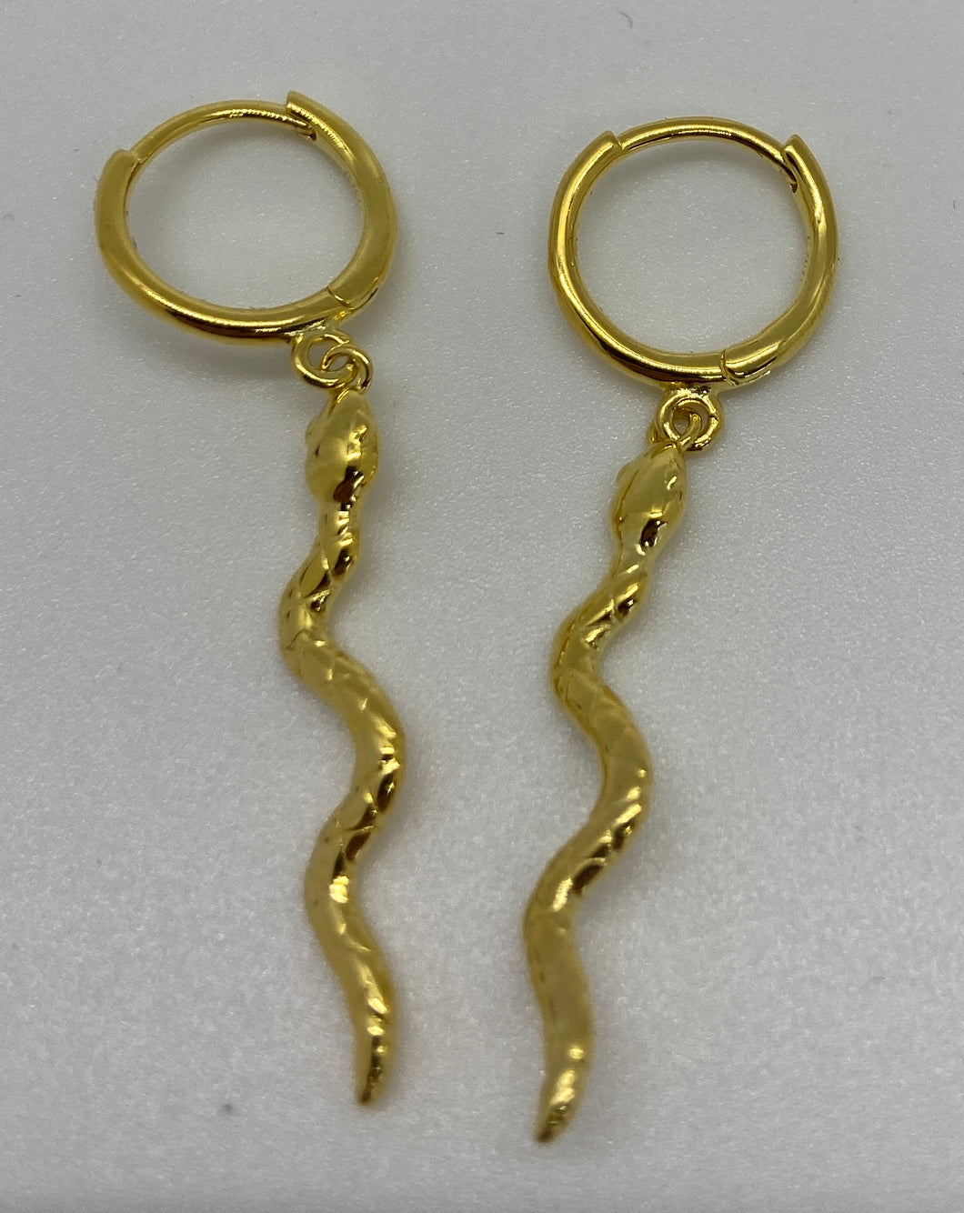 LONG SNAKE HOOP EARRINGS