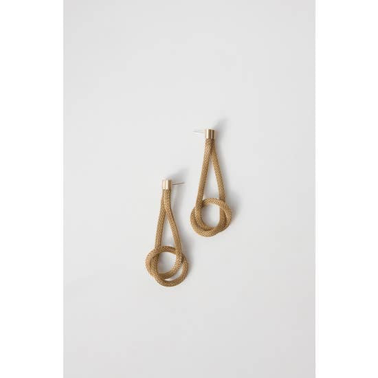 COIL KNOT EARRINGS