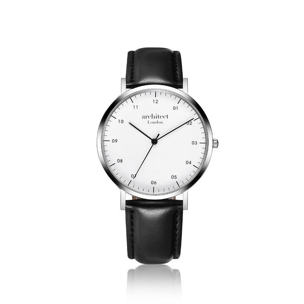 Handwriting Engraving - Men's Architect Zephyr + Jet Black Strap - Wear We Met