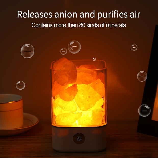 USB Crystal Light natural himalayan salt lamp