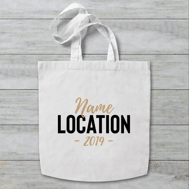 Name Location Personalised Tote Bag