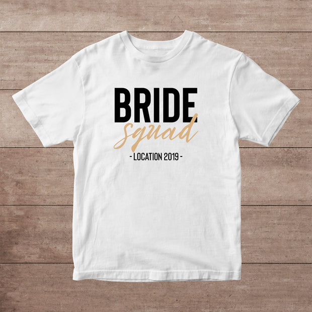 Bride Squad Personalised Adult T-Shirt