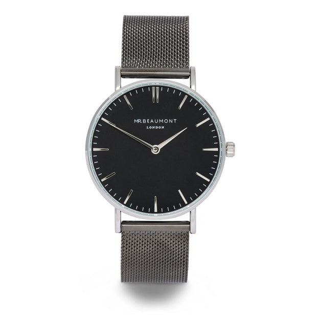 Own Handwriting Mr Beaumont Gun Metal Watch Black Dial - Wear We Met