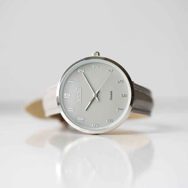 Personalised Anaii Watch In Flint Grey - Wear We Met