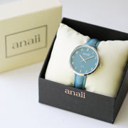 Personalised Anaii Watch Handwriting Engraving Jupiter Teal - Wear We Met