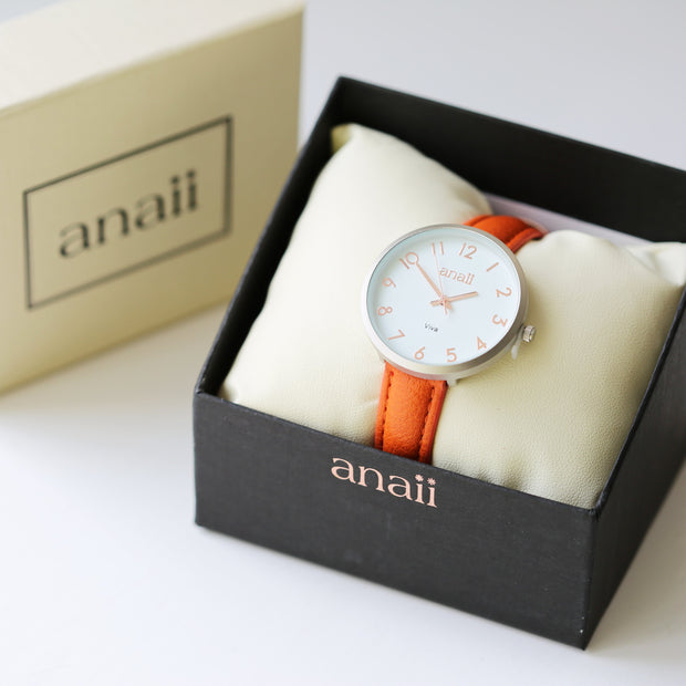 Personalised Anaii Watch Handwriting Engraving Blush Red - Wear We Met