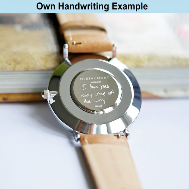 Own Handwriting Elie Beaumont Rose Silver Watch - Wear We Met
