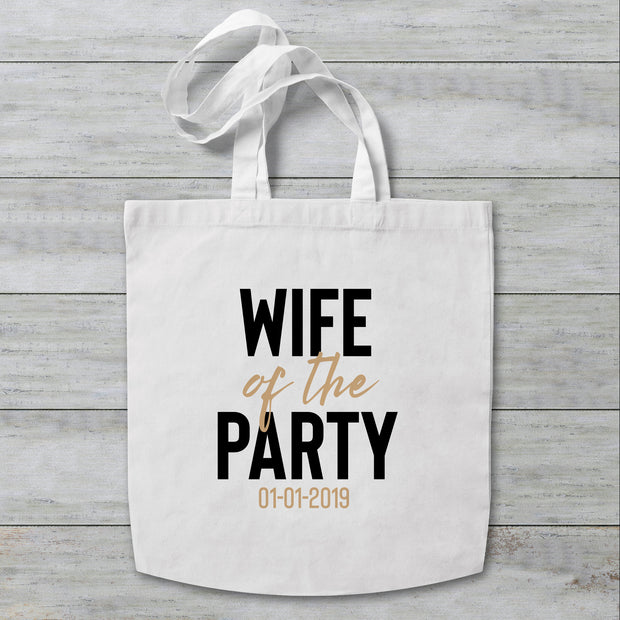 Wife of the Party Personalised Tote Bag