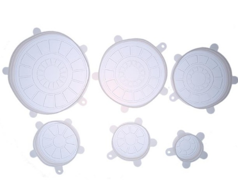 6 pcs Universal Silicone Suction Lid