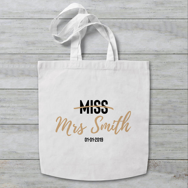 Miss Surname Personalised Tote Bag