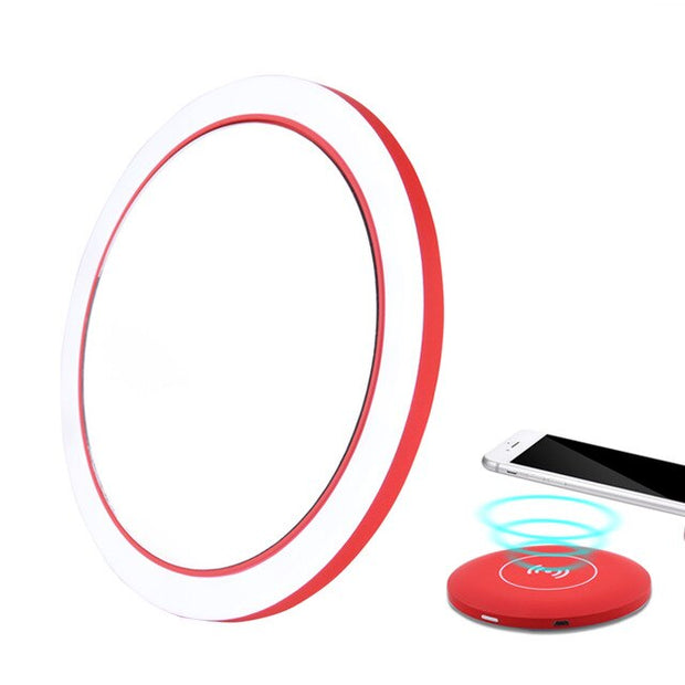 LED Light up mirror with wireless charging option