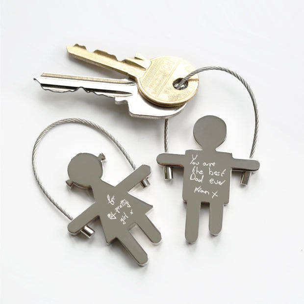 Skipping Sam Key Ring Handwriting Engraving - Wear We Met