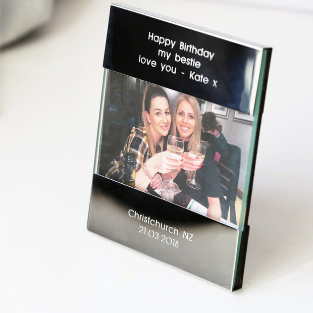 Personalised Modern Photo Frame - Wear We Met