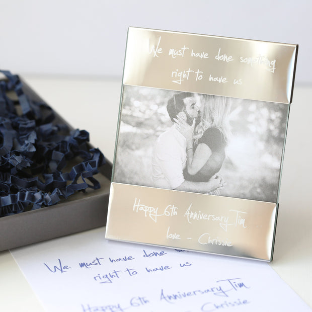 Handwriting Engraving Photo Frame - Wear We Met