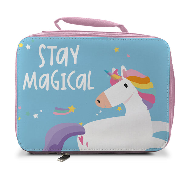 Unicorn Insulated Lunch Bag - Pink