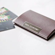 Engraved Business Card / Credit Card Holder - Wear We Met