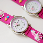 Engraved Kids 3D Unicorn Watch - Pink - Wear We Met