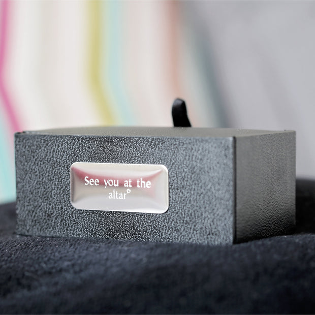 Secret Message Engraved Cufflinks - Wear We Met