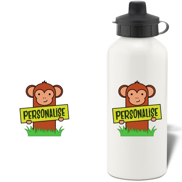 Kids Monkey Aluminium Water Bottle