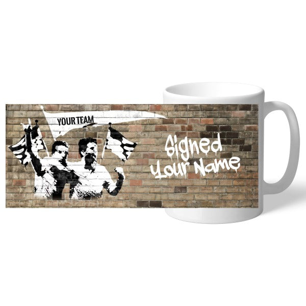 Personalised Football Graffiti Celebration Mug