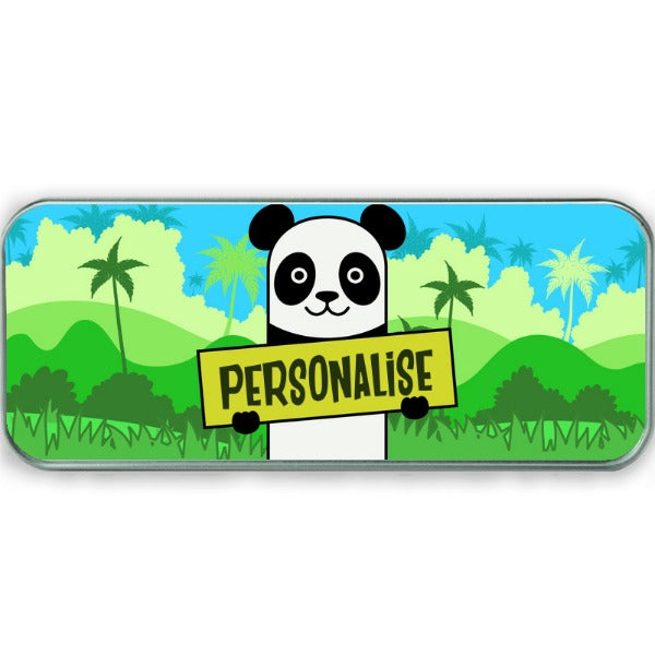 Kids Panda Pencil Tin