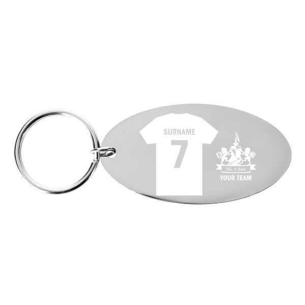 Personalised Football Shirt Keyring