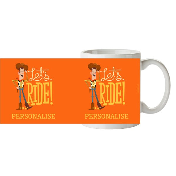 Toy Story 4 Personalised Woody Let's Ride Ceramic Mug