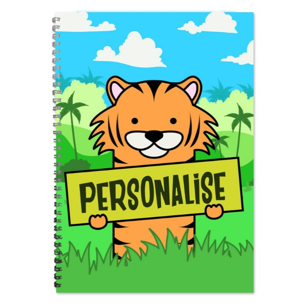 Kids Tiger A4 Plain Notepad