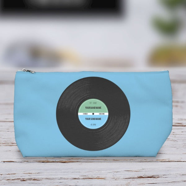 Vinyl Record Retro Personalised Wash Bag