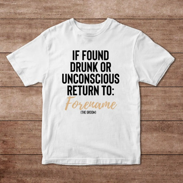 If Found Please Return Personalised Adult T-Shirt