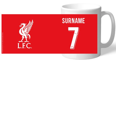 Liverpool FC Back Of Shirt Mug