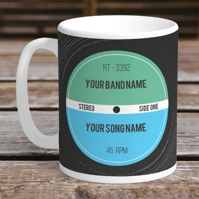 Vinyl Record Retro Personalised Mug