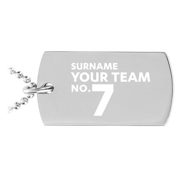 Personalised Football Dog Tag Pendant