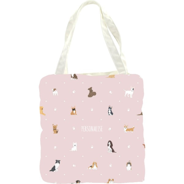 Personalised Dog Pattern Tote Bag