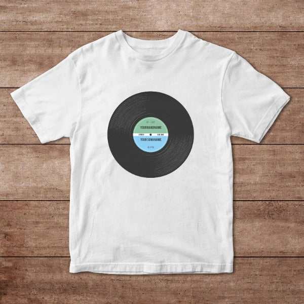 Vinyl Record Retro Personalised Adult T-Shirt