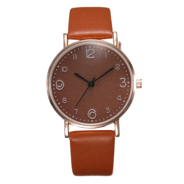 Women's Luxury Leather Band Watch - VertaStyle