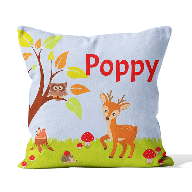 Customised Kids Deer Cushion